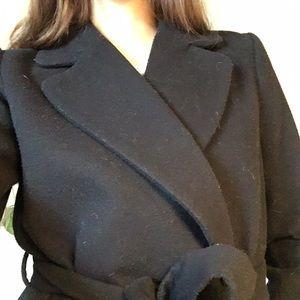 H&M Jackets & Coats - Long black belted coat